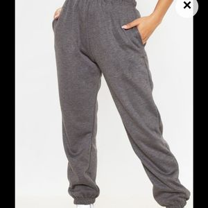 Pretty Little Thing Charcoal Joggers